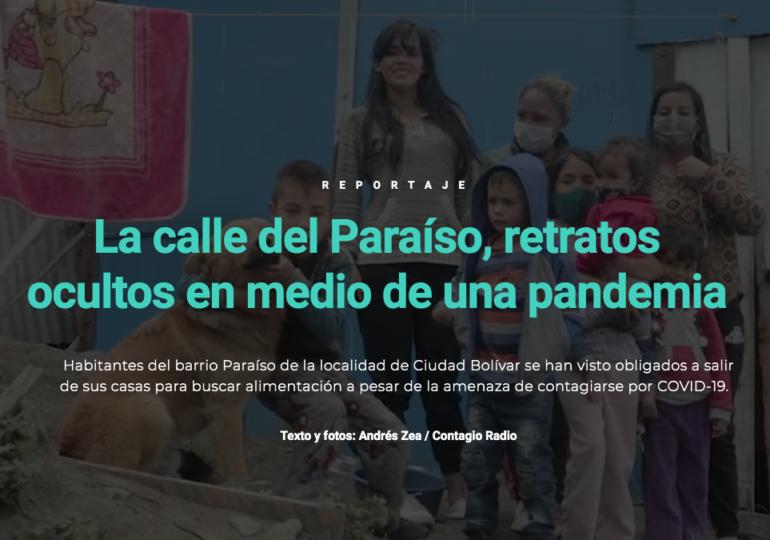 La calle del Paraíso, retratos ocultos en medio de una pandemia
