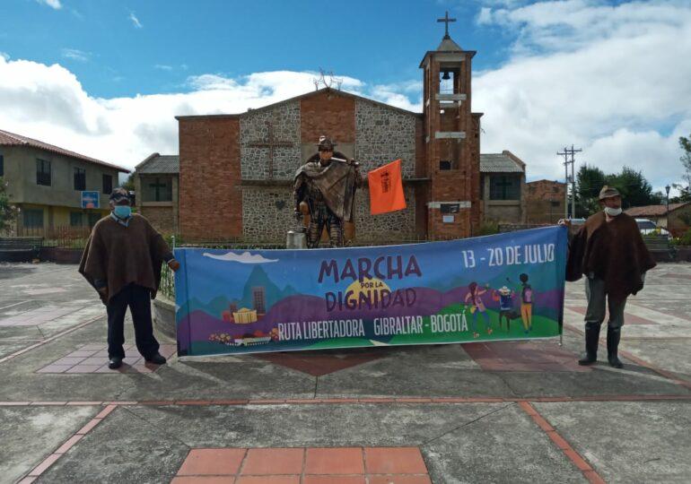 Marcha por la Dignidad arribará el 20 de julio a Bogotá buscando una «verdadera independencia»