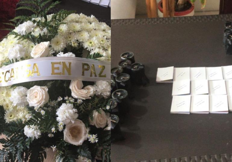 Coronas fúnebres, velas y sufragios llegan a casas de integrantes de FECODE y CUT
