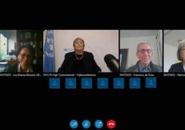 Comisionada Michelle Bachelet reitera respaldo al Sistema de Justicia Transicional