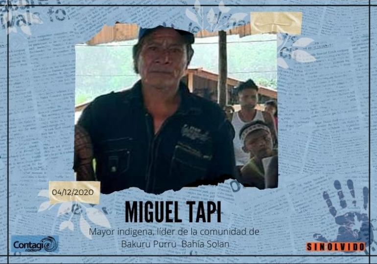 Es asesinado el Mayor indígena Miguel Tapi en Chocó