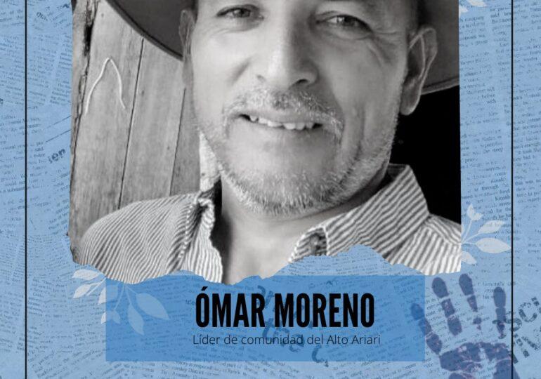 Asesinan a líder social Omar Moreno en Nariño