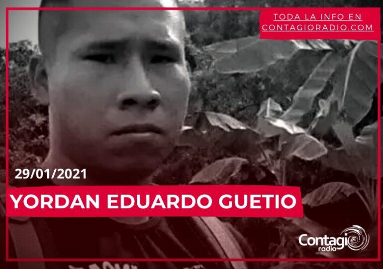 Asesinan a Yordan Eduardo Guetio, líder juvenil de Corinto, Cauca.