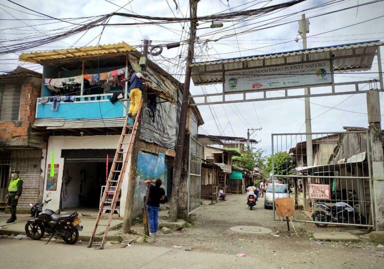 Instalan cámaras de seguridad en Espacio Humanitario Puente Nayero en Buenaventura