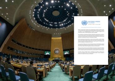 ONU Colombia pide que se garantice derecho a la protesta