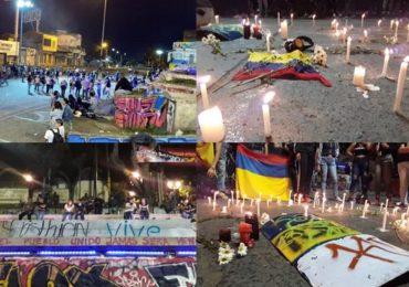 ESMAD atacó acto de homenaje Cristian Delgadillo, asesinado en Cali en el Paro Nacional