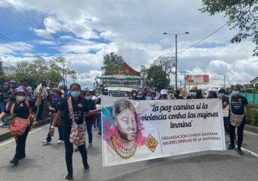 Mujeres se movilizan en defensa de la vida y los territorios en Popayán