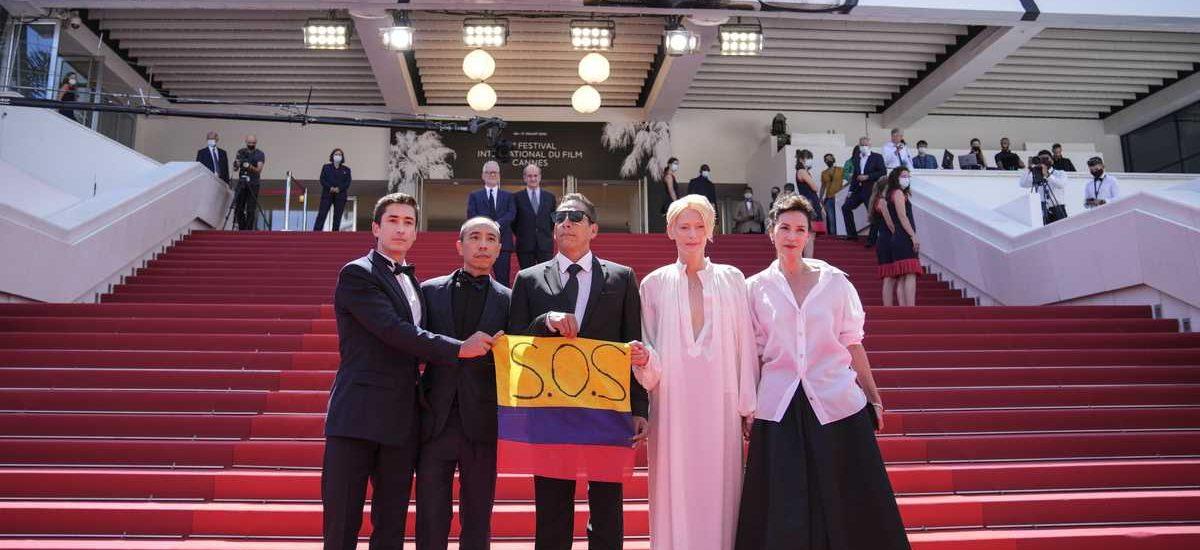Mensaje 'S.O.S Colombia' se hizo presente en el Festival de Cannes