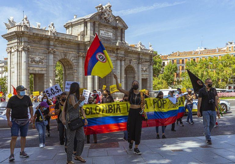 """Protestas en Madrid contra el """"blanqueamiento"""" y la censura del gobierno Duque"""