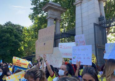 Protestas lograron cancelar presentación de Iván Duque en Feria del libro Madrid