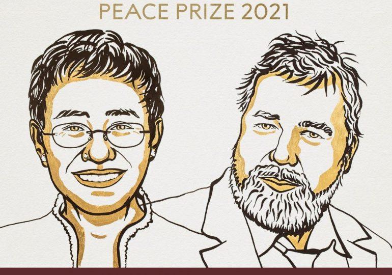 Dos periodistas galardonados con el Premio Nobel de Paz de 2021